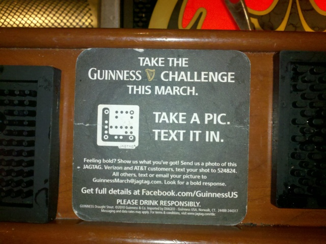 Image: Guinness JAGTAG Coaster