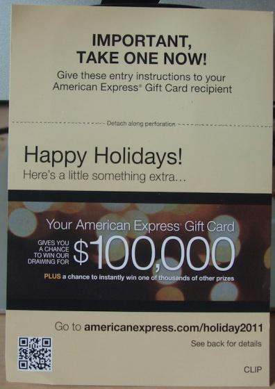 image: Amex Sweeps Flyer