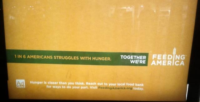 image: Feeding America mall ad closeup