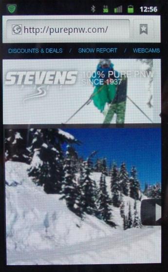 image: Stevens Pass Web on mobile
