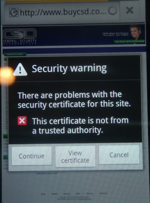 image: Paradox Security Mobile Ad Fail