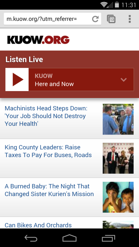 image: KUOW Mobile Site