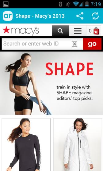 image: Layar - Shape - Macy's Page